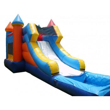 Regular 4x1 Water-slide Castle 15'x32