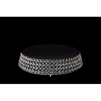 Crystal-Metal Base ( cake stand round-trapezoid)
