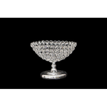 "Crystal-Metal Base cup(10"" D round)"
