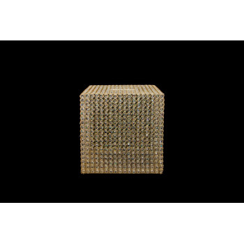 Gold Gift Box Crystal-Metal (square)