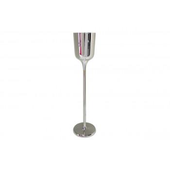 """Flower Pedestal 013 (37""""H) (Silver)"""