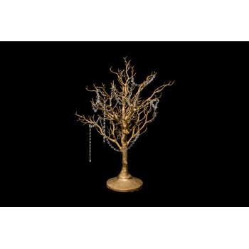 Manzanita Tree (Gold) with Crystals
