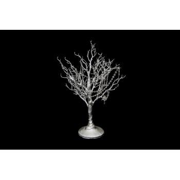 """Manzanita Tree (Silver) 32"""" with Crystals"""