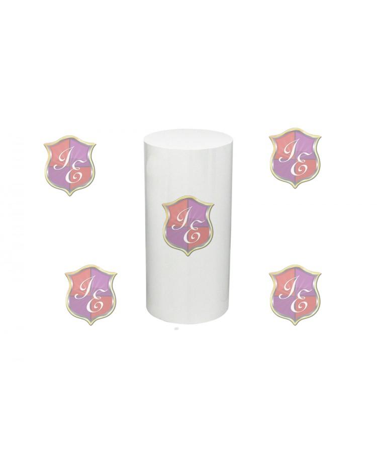 """Cylinder Pedestal 30""""H (White)"""