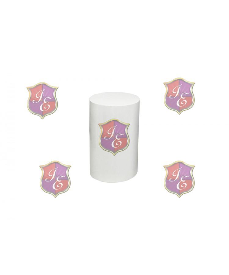 """Cylinder Pedestal 23""""H (White)"""