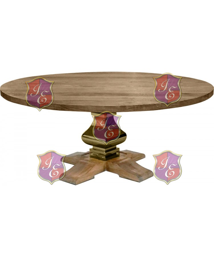 Tuscan Dining Table (Round) (Gold)