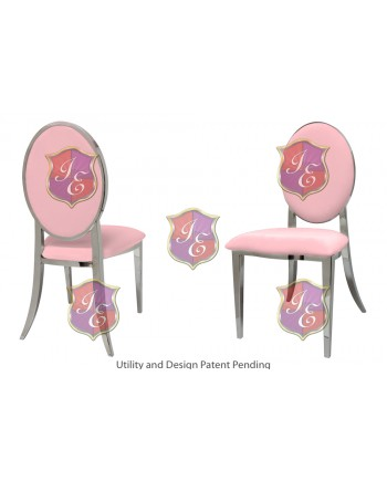 Tiffany Chair (Silver-Pink)