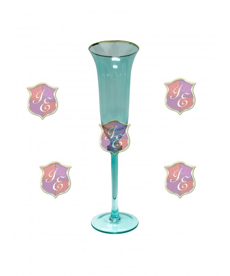 Glitz Champagne Flute (Aqua) (Rack 25) Glassware
