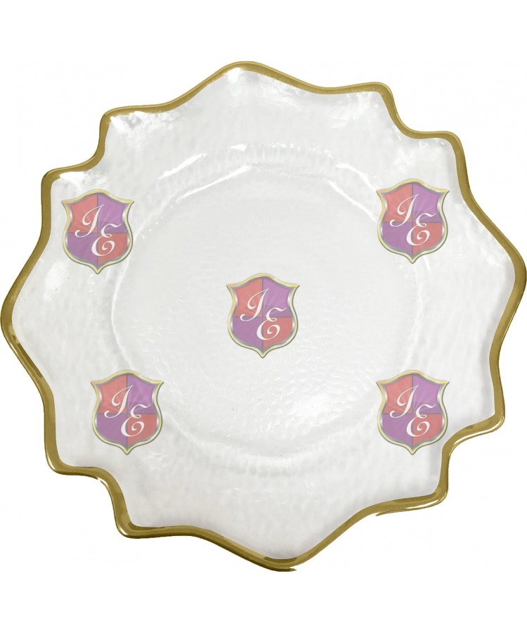 Versailles Charger Plate (Gold Trim)