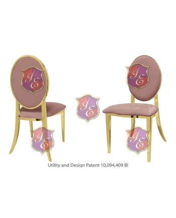 Tiffany Chair (Gold-Rose Gold)