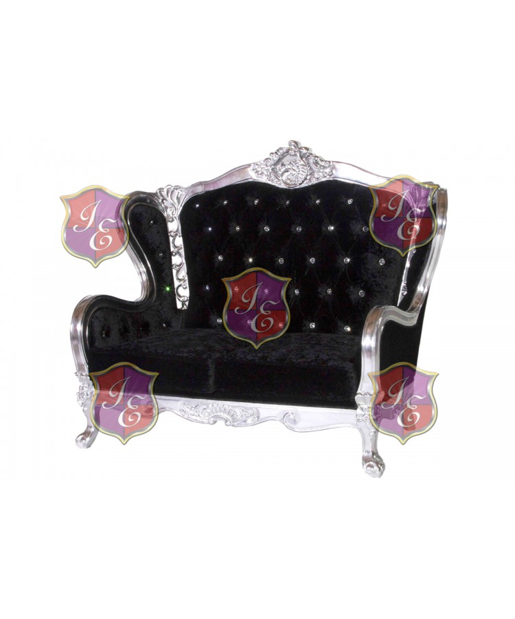 Monarch Love Seat (Black)