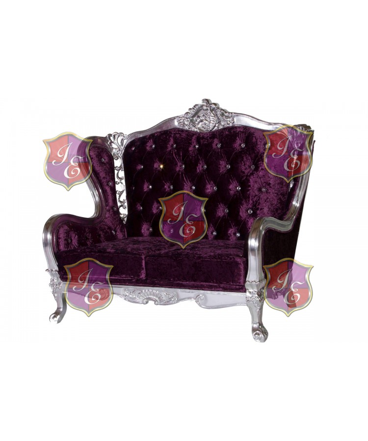 Monarch Love Seat (Eggplant)