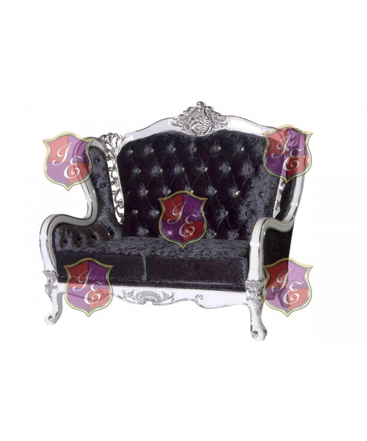 Monarch Love seat (Grey)