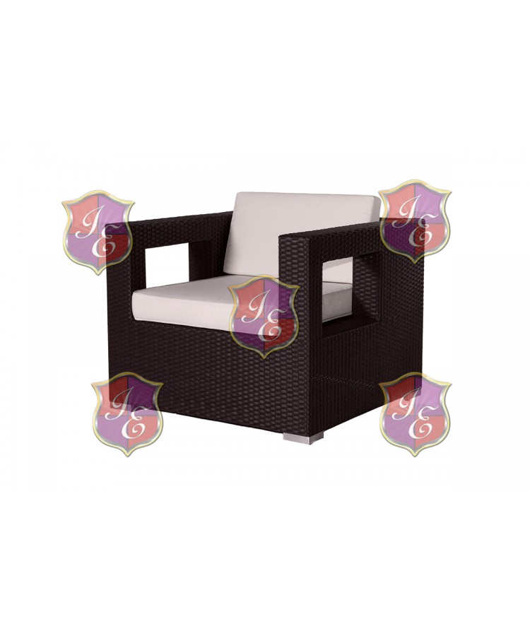 Rattan Armchair (Square Hole) (Mocha)