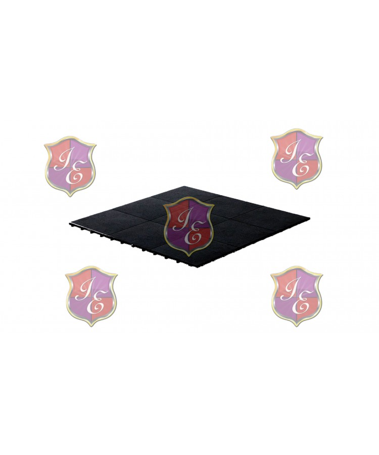 Dance Floor Black 1'x1' (Snap Lock)