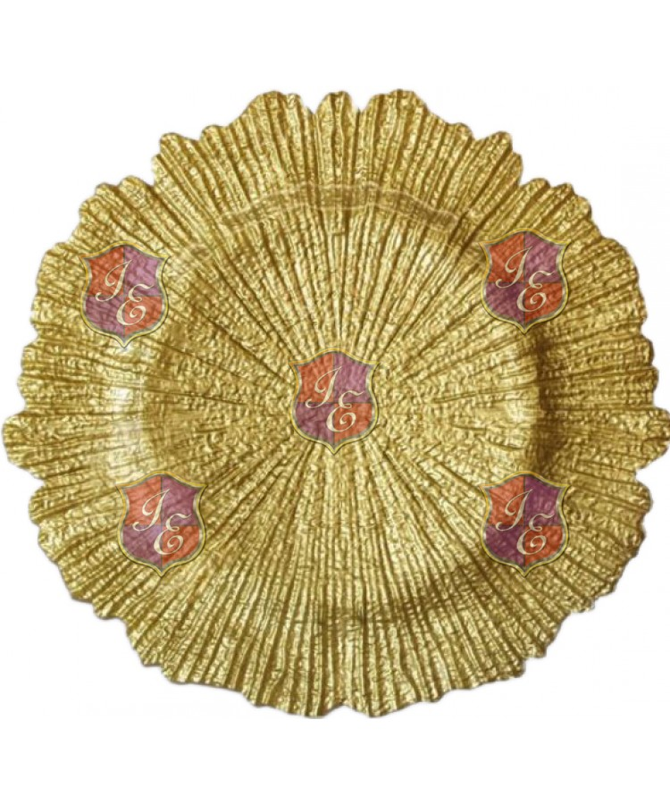 Reef Charger Plate (Gold)