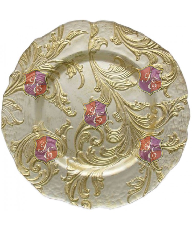 Vanessa Charger Plate (Ivory and Gold)