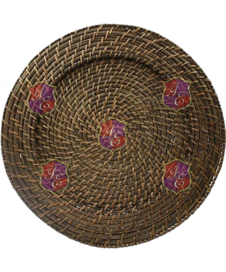 Rattan Charger Plate (Dark Brown) (Round)