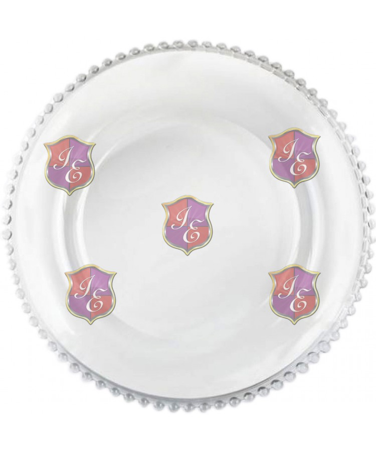Glass Beaded Charger Plate (Clear Beaded)