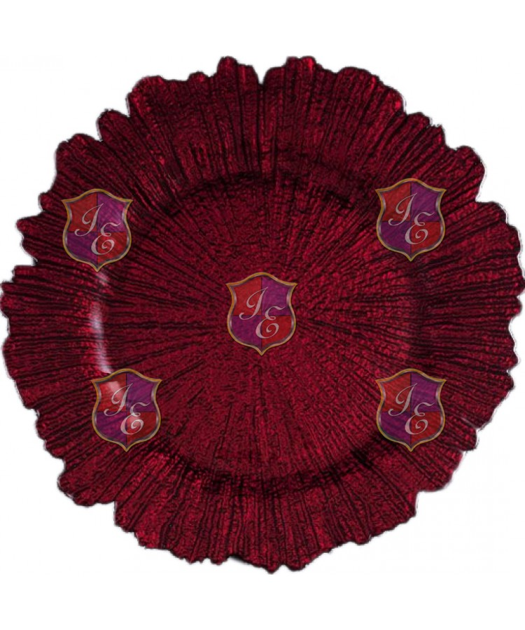 Reef Charger Plate (Red)