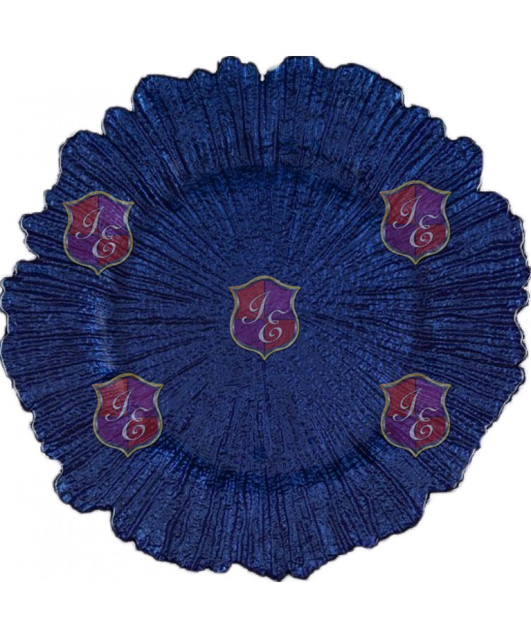 Reef Charger Plate (Royal Blue)