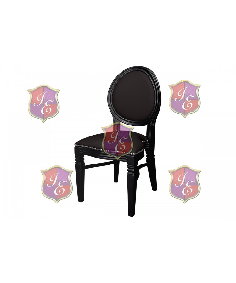 Chandelle Chair (Black Frame-Black Cushion)