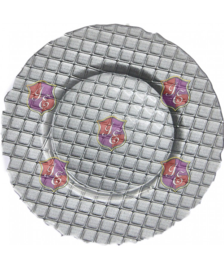 Checkers Charger Plate (Silver)