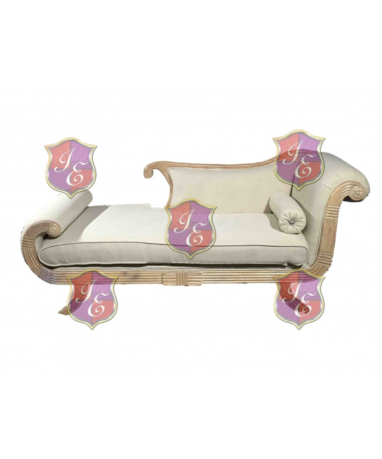 Vintage Chaise Lounge (Left) (Taupe)