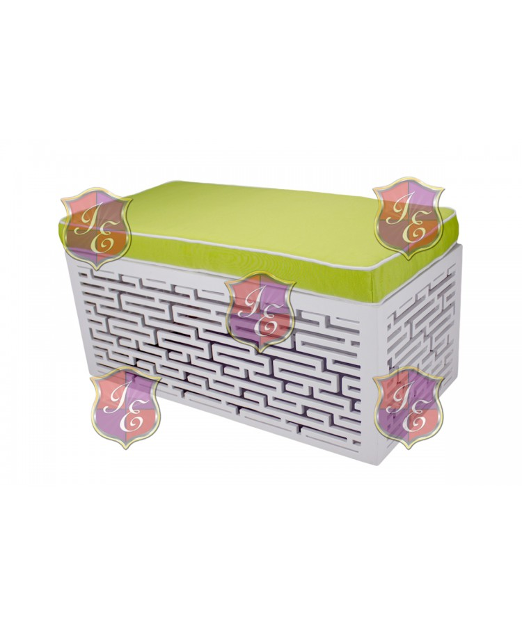 Maze Ottoman (Rectangular)(Lime Green)