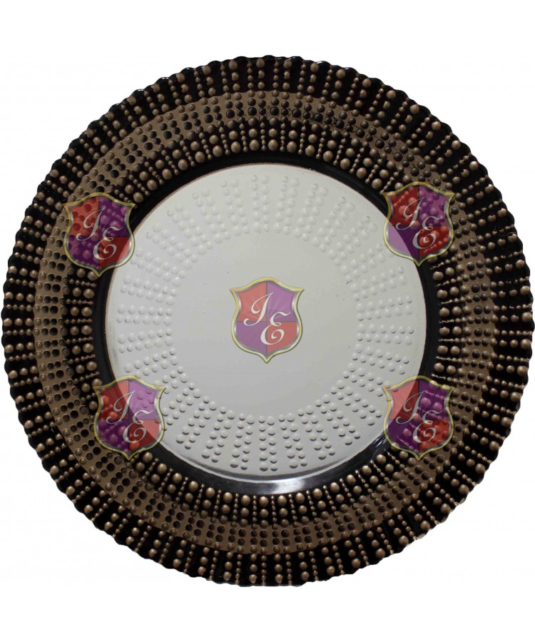 Starburst Charger Plate (Brown and Clear)