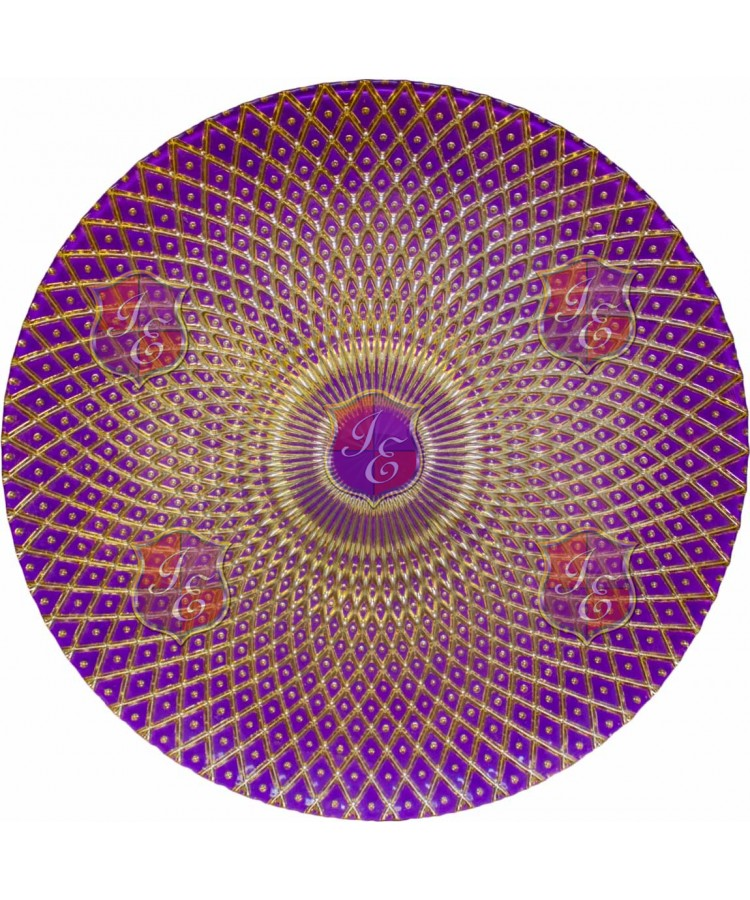 Harlequin Charger Plate (Purple and Gold)