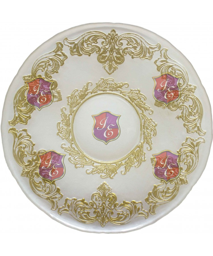Crown Charger Plate (White and Gold)