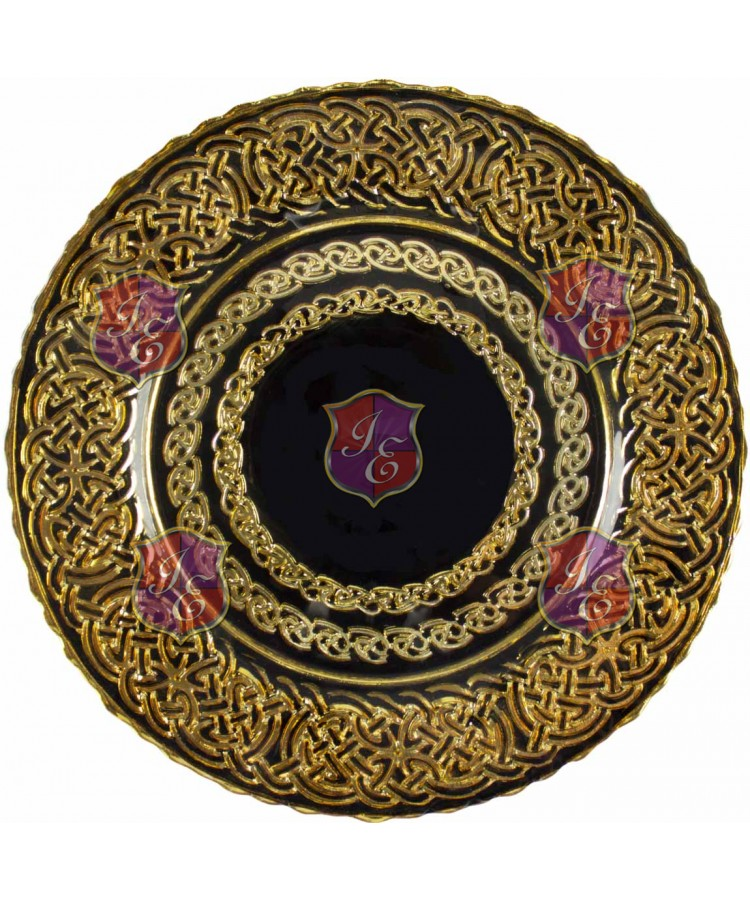 Renaissance Charger Plate (Black and Gold)