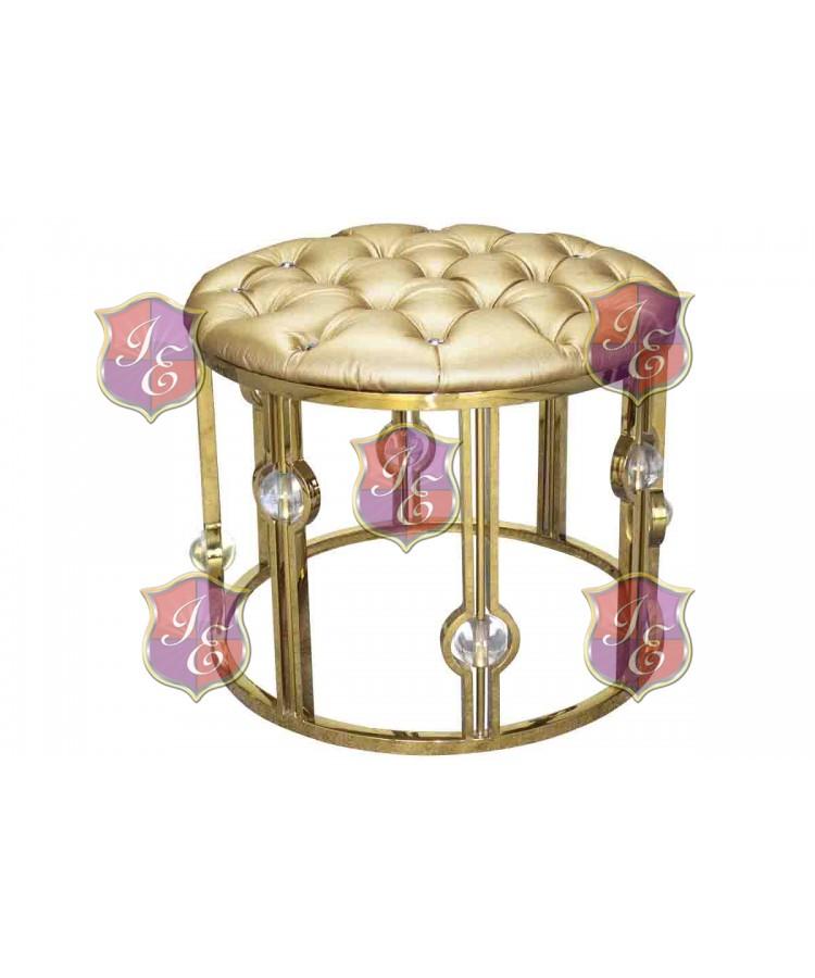 Reflection Ottoman Glam (Round) (Gold)