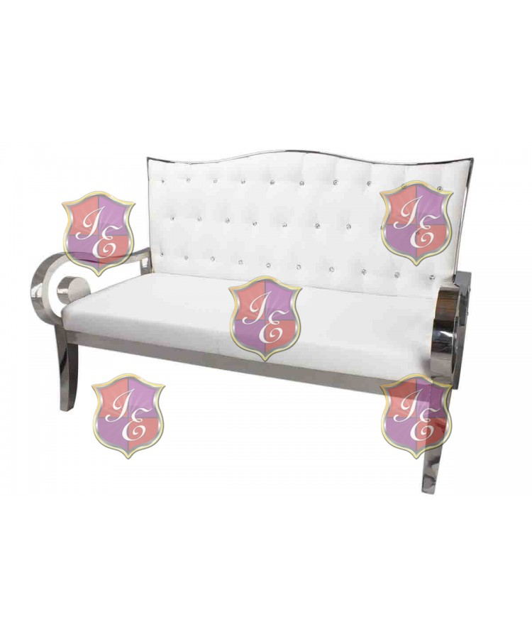 Reflection Love Seat Silver (Waterfall)