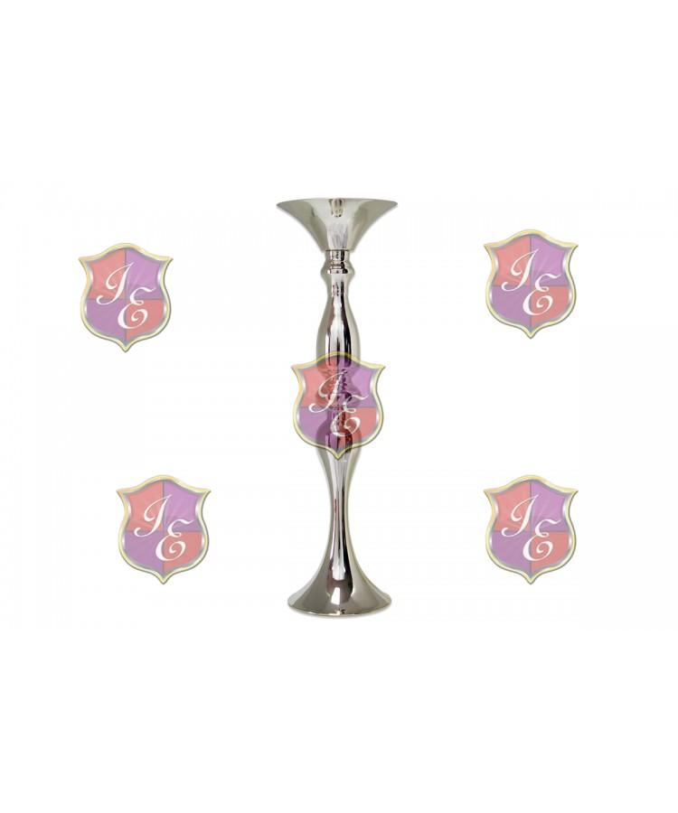 """Flower Pedestal 018 (16""""H) (Silver)"""