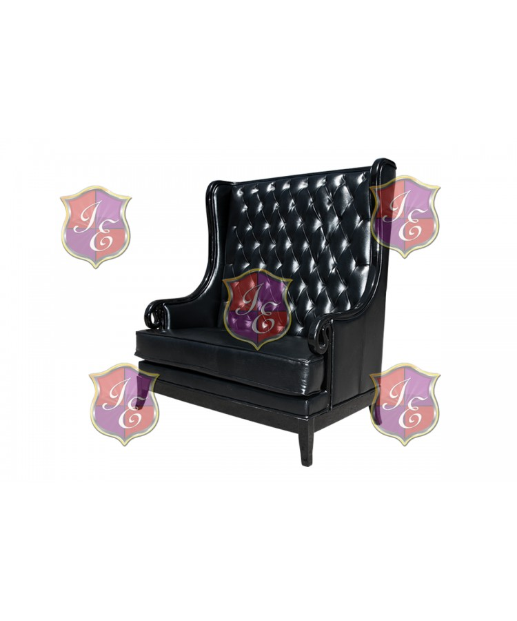 Empire Love Seat (Black)