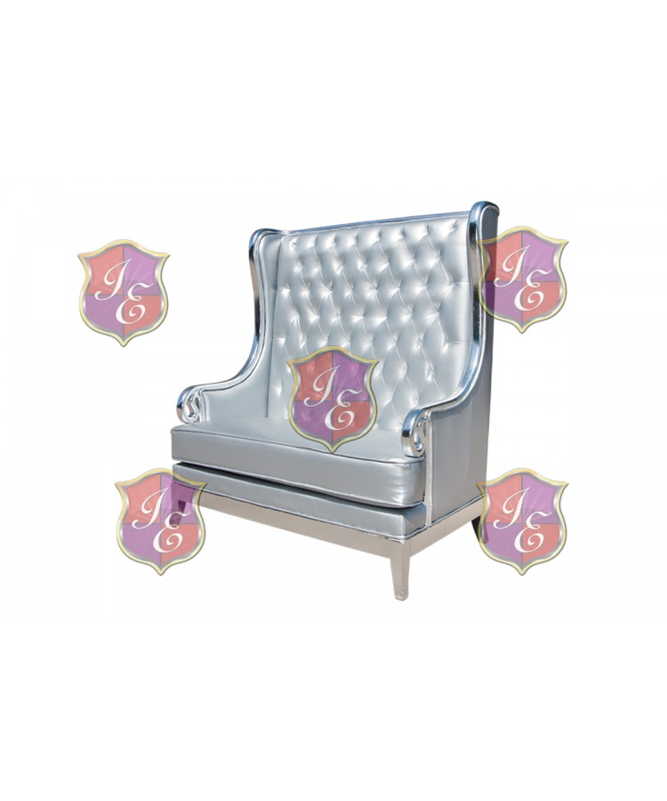 Empire Love Seat (Silver)
