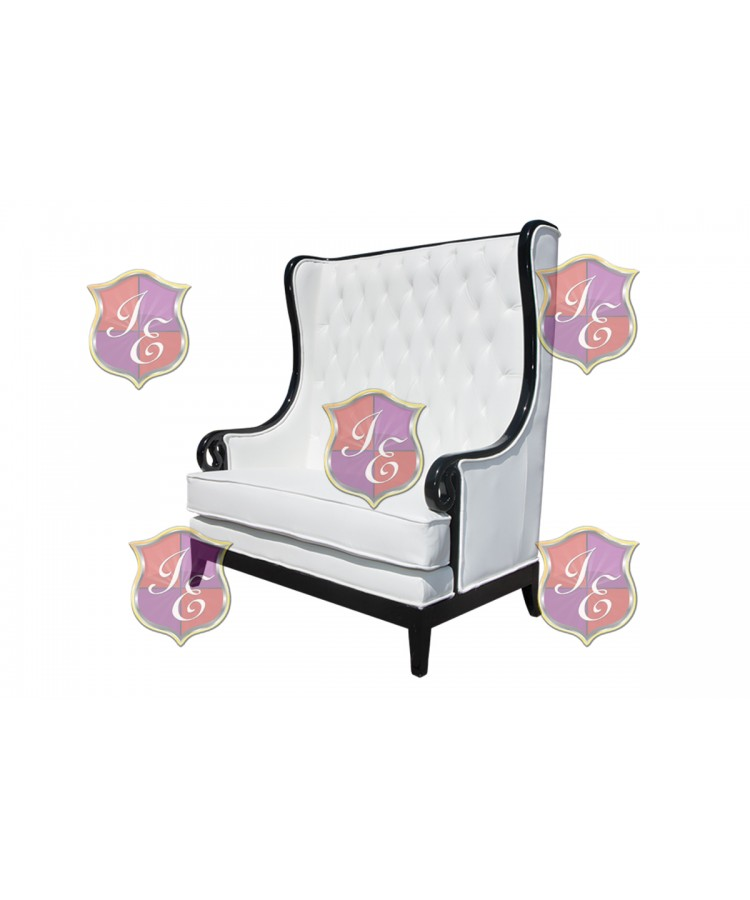 Empire Love Seat (Black-White)
