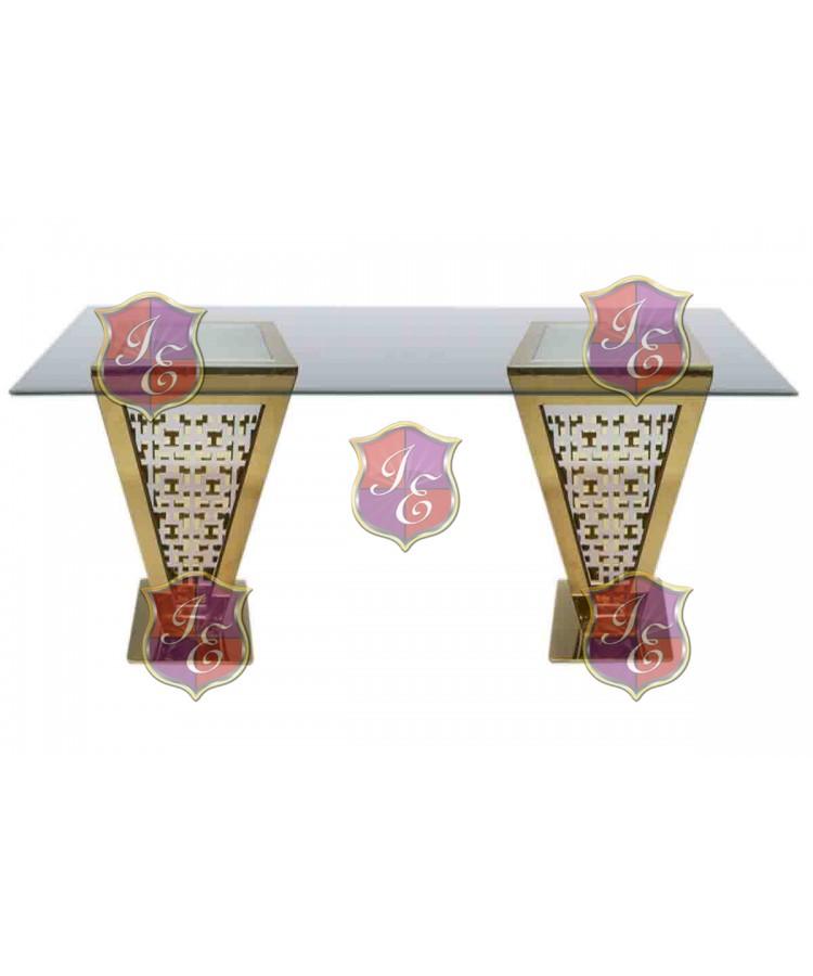 "Reflection Highboy Table Pyramid (Gold) 48"" x 96"""