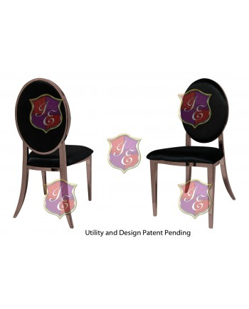 Tiffany Chair (Rose Gold-Black)