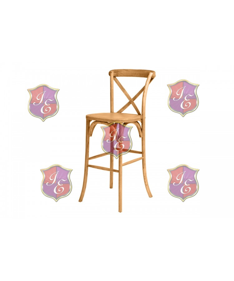 CrossBack Barstool (Wood)