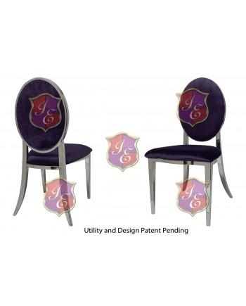 Tiffany Chair (Silver-Eggplant)