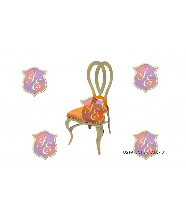 Halexandria Chair (Gold-Orange)