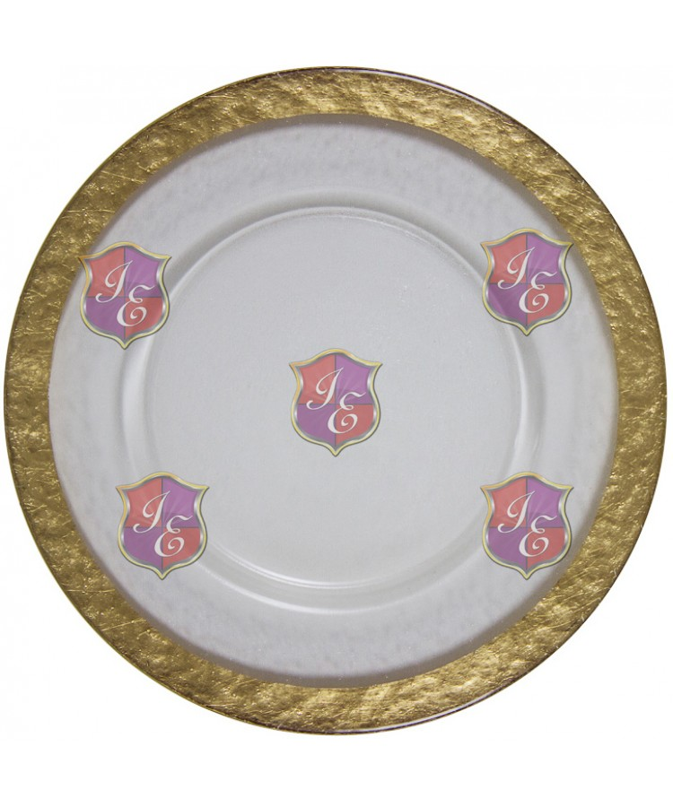 Cloud Charger Plate (Gold Border)