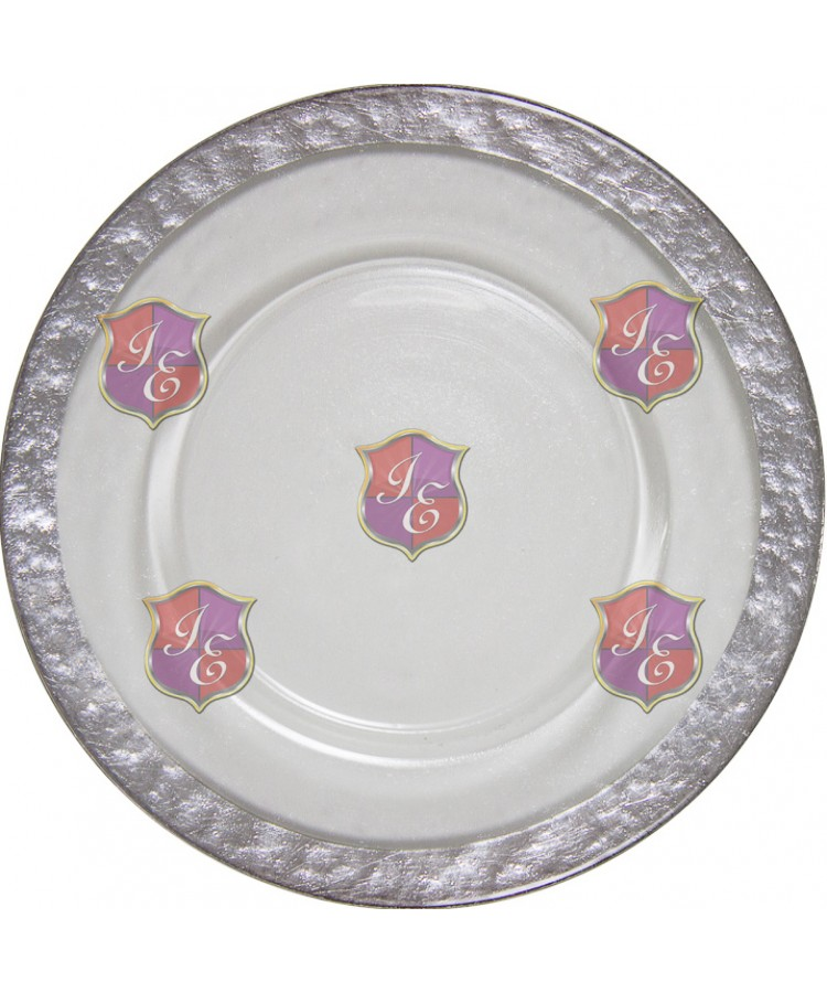 Cloud Charger Plate (Silver Border)
