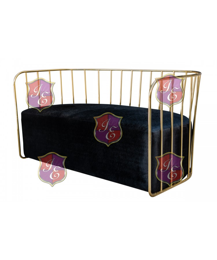 Reflection Sofa (Bars) (Gold-Black)