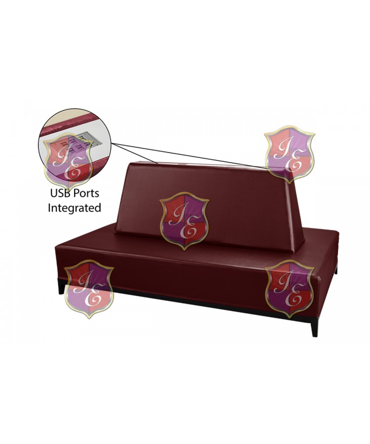Contemporary Banquette (Rectangle) (Burgundy)