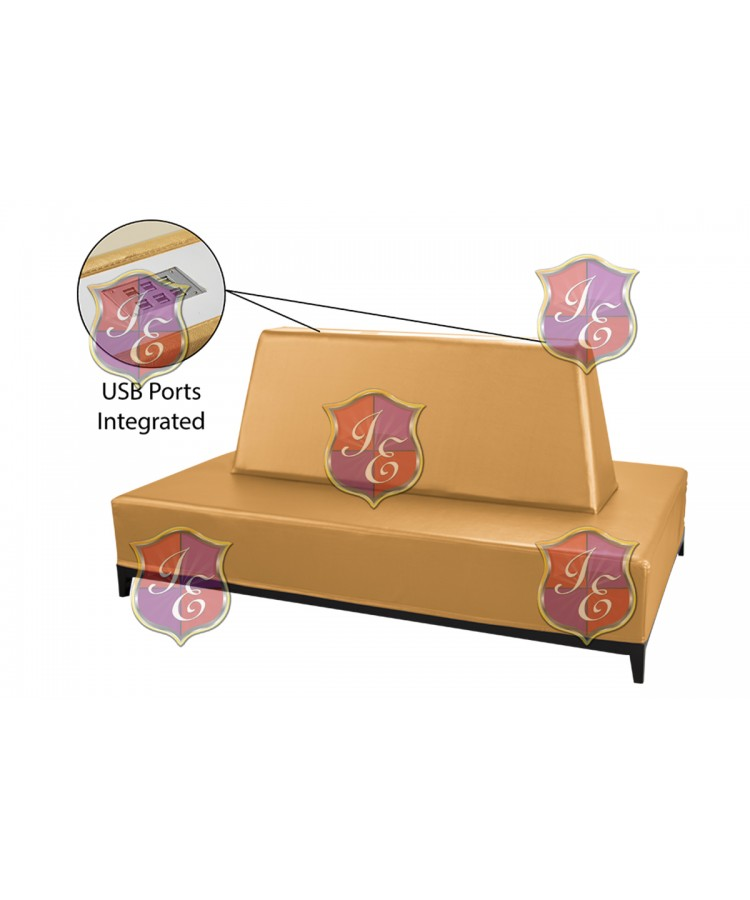 Contemporary Banquette (Rectangle) (Gold)