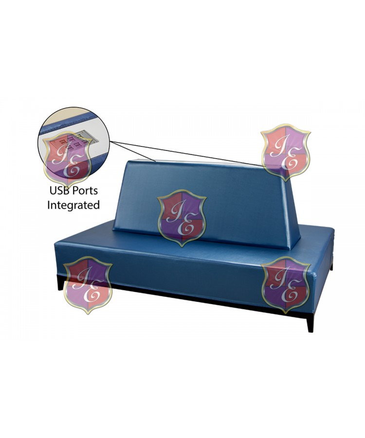 Contemporary Banquette (Rectangle) (Blue)